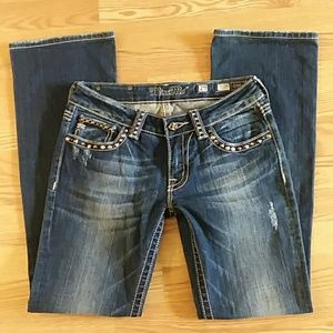 Miss me boot cut jeans size 29 embellished